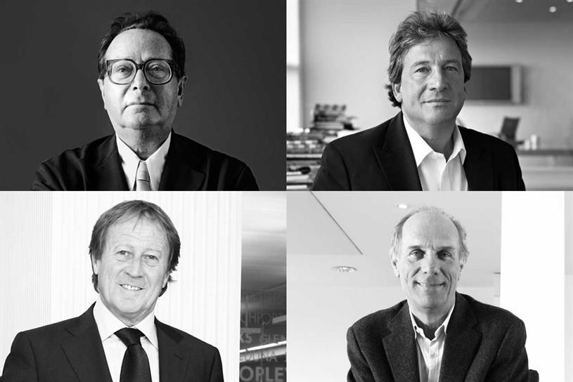 M&C Saatchi founders: (clockwise from top left) Saatchi, Kershaw, Sinclair and Muirhead