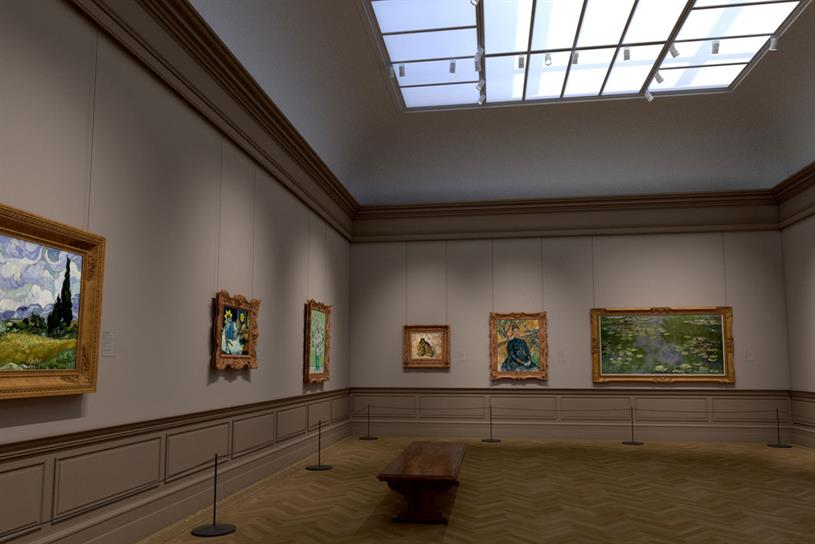Verizon: digital galleries were designed to replicate space in the museum