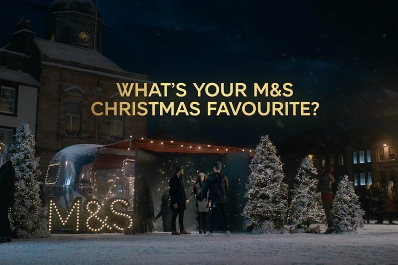 Marks & Spencer: advertises across a range of media during the festive season