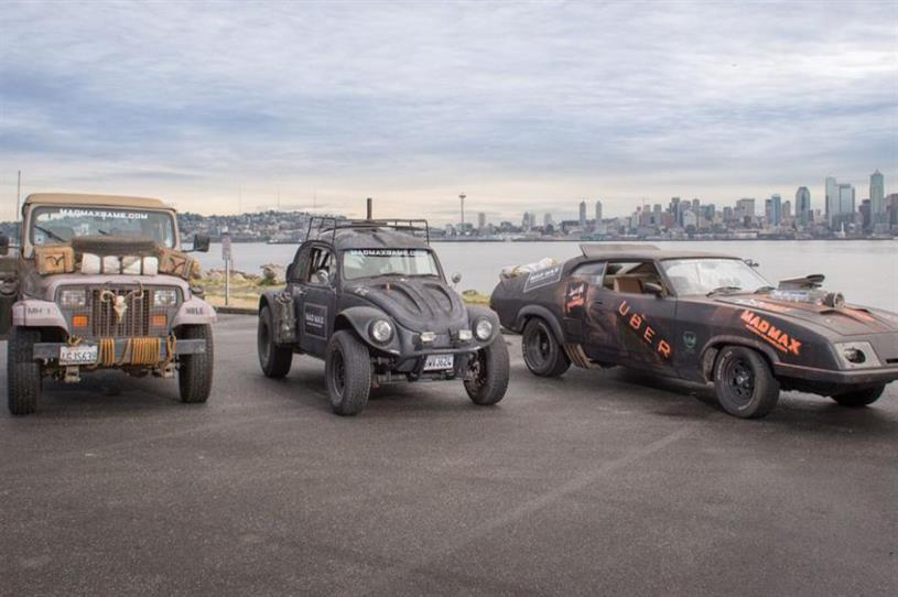 Uber offered free rides across downtown Seattle in Mad Max-themed cars (@Uber_SEA)