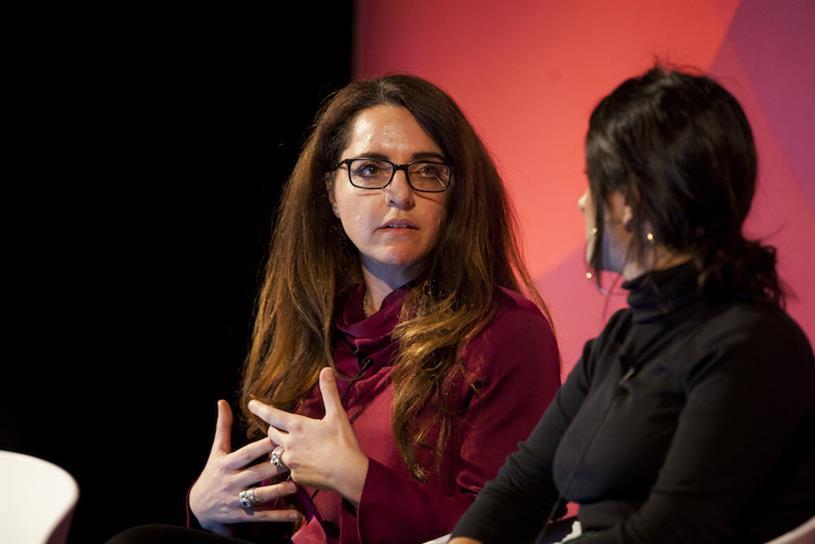 Maria Koutsoudakis (left) with fellow panellist Sara Shahvisi