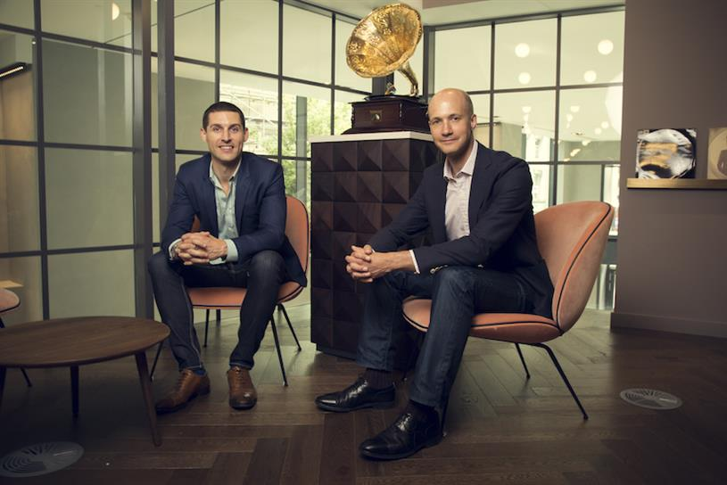 Tesco Mobile chief executive Anthony Vollmer (r) and Unlockd's chief executive Matt Berriman