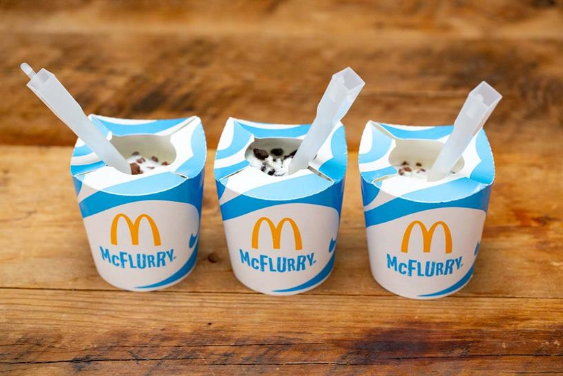 McFlurry: new design loses clear plastic lid