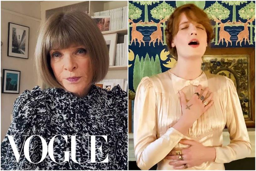 Vogue: Wintour and Welch appeared in live stream