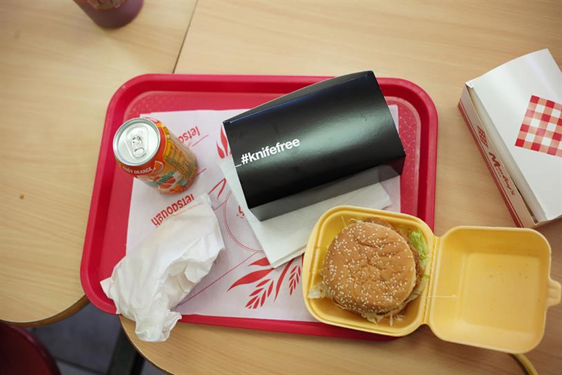 'The chicken boxes are simply a new way of engaging with young people'