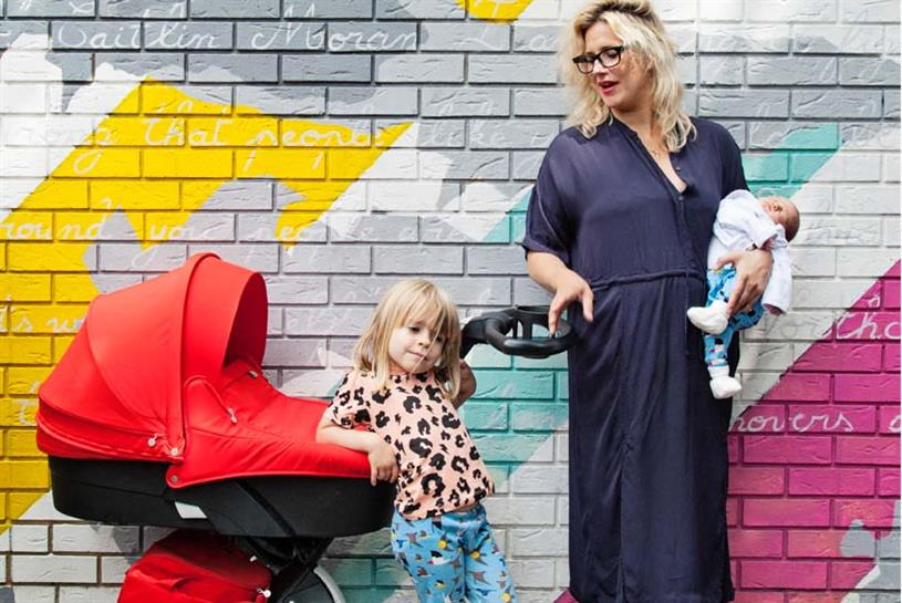 Anna Whitehouse, founder of Mother Pukka, with her two children