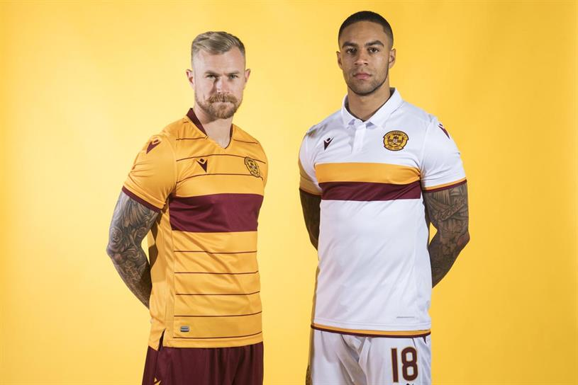 Motherwell: new kits, devoid of Paddy Power logo