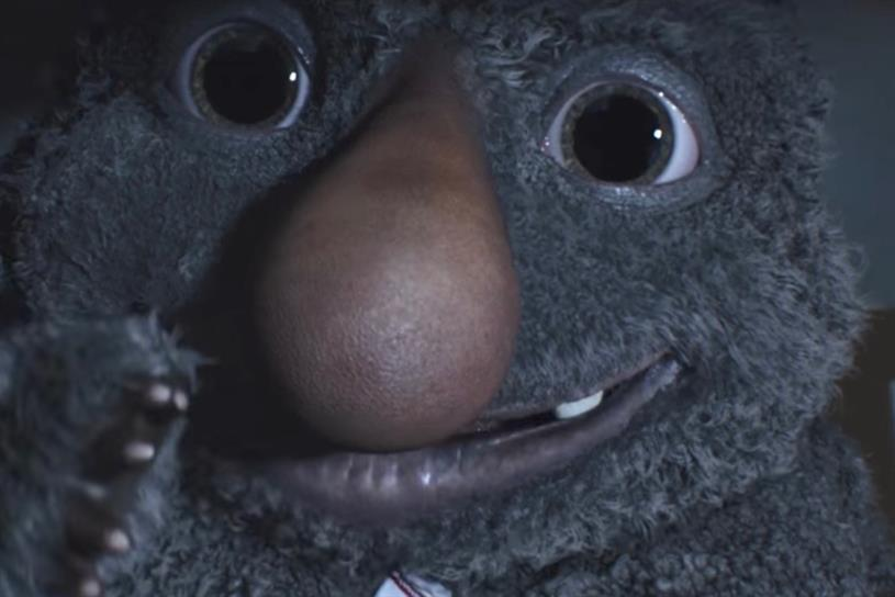 John Lewis's 'Moz the monster'
