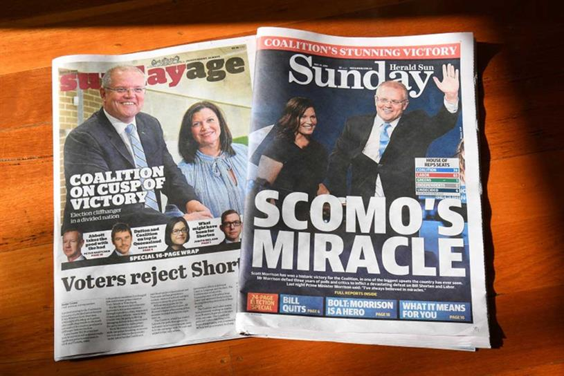 News Corp: its newspapers have shown support for prime minister Scott Morrison and his Liberal Party