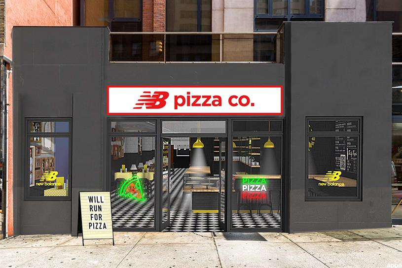New Balance: earn free pizza by training