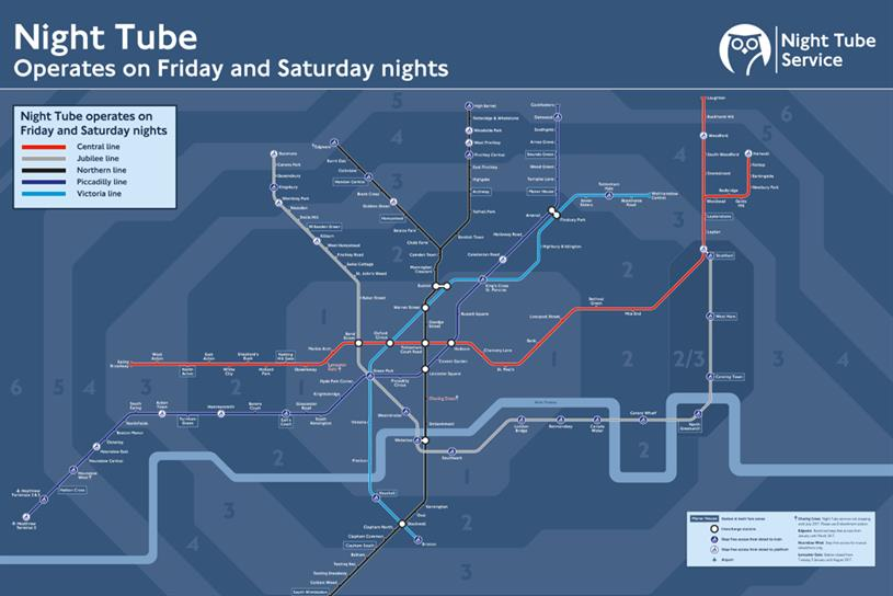 Mcdonald S Caters To Post Midnight Munchies With Night Tube Map