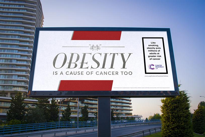 Cancer Research: ads take design inspiration from old cigarette packs