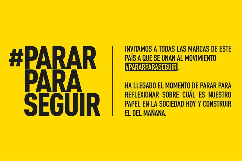 #PararParaSeguir: supported by 35 agencies
