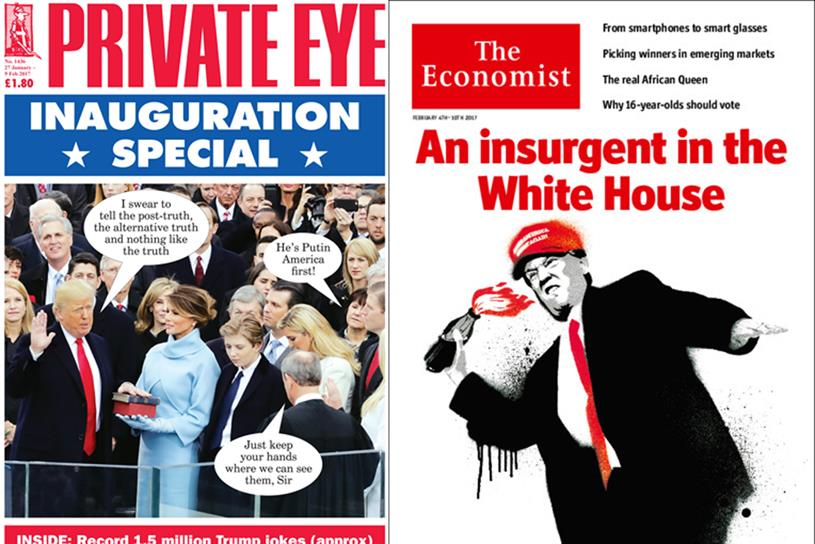 Private Eye and The Economist: two slants on the Trump presidency