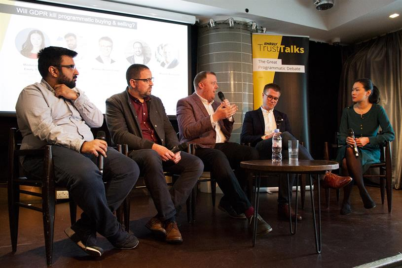 Malik (far left) believes UK's premium publishers should band together as a GDPR solution for marketers