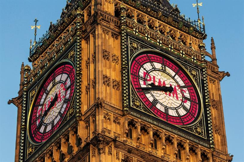 Has Pimm's taken over Big Ben, or is the announcement the result of an April Fools joke?