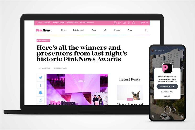 Pink News: launch partner in UK