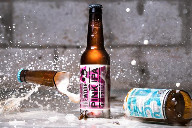 Pink IPA: an ironic twist on Brewdog's regular Punk IPA beer
