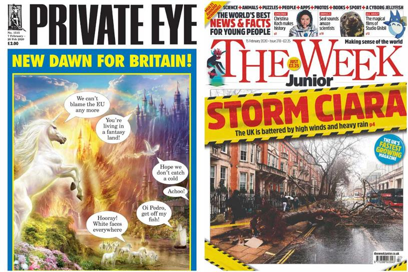 Private Eye and The Week Junior: showing growrh