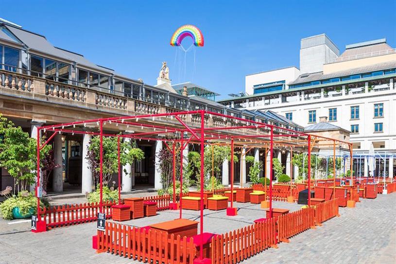 Covent Garden's alfresco picnic area