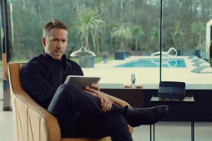 BT ad's Ryan Reynolds: came back for more, banned once again