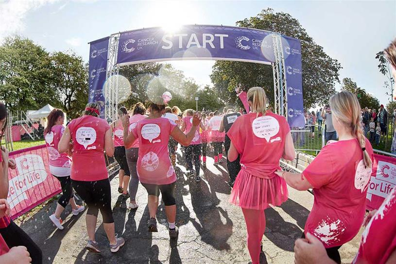 Race for Life: runs multiple events across UK annually