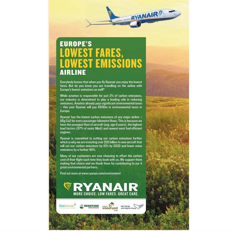 Ryanair: ads found to be misleading
