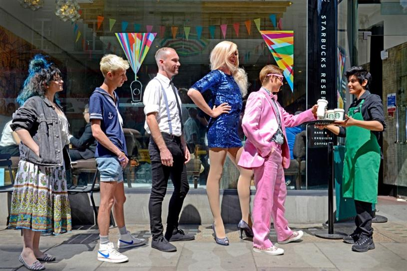 Starbucks is one of Pride in London's sponsors and will be handing out free coffees to the best dressed participants