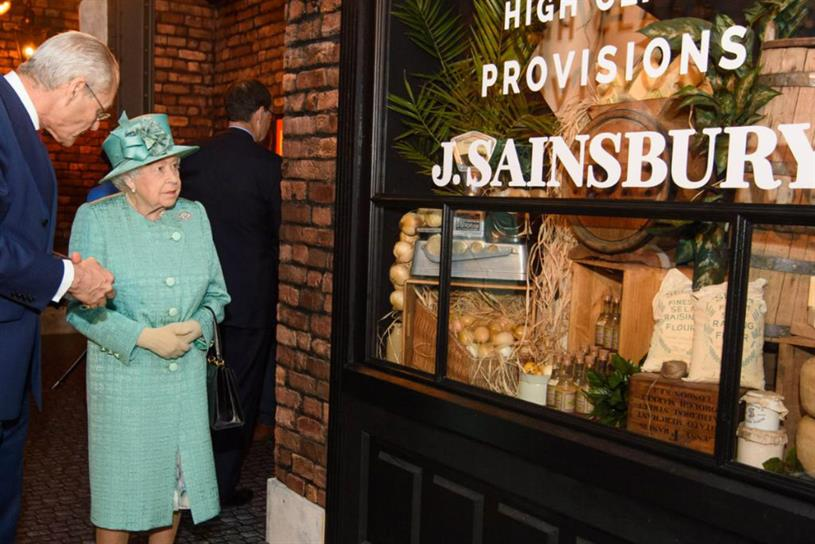 Sainsbury's: Queen visited anniversary pop-up