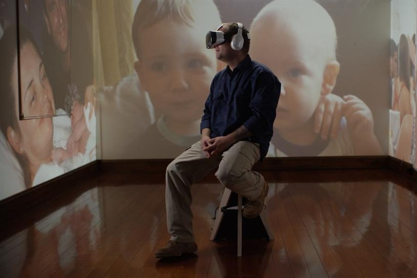 Jace Larke: the expectant father experiences birth of his son via VR headset