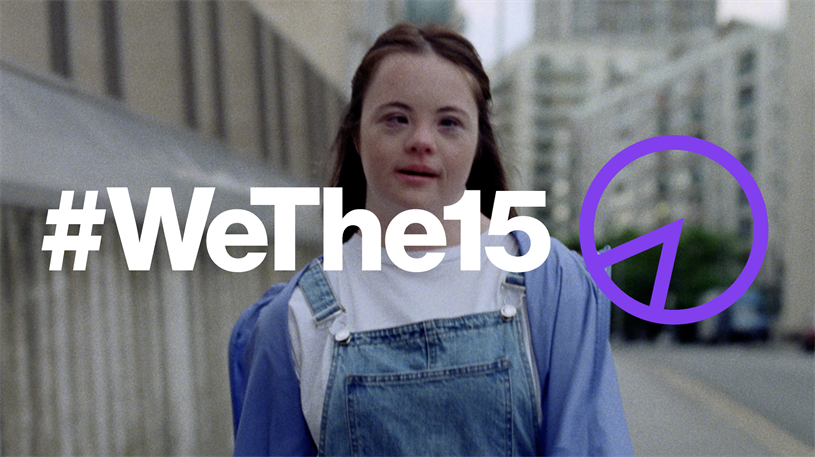 #WeThe15: The campaign takes its name from the 15% of the global population who are disabled