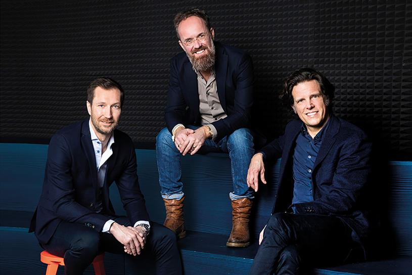 (l-r) Markus Noder, group MD international; Alexander Schill, group MD and CCO; and Florian Haller, group CEO, Serviceplan