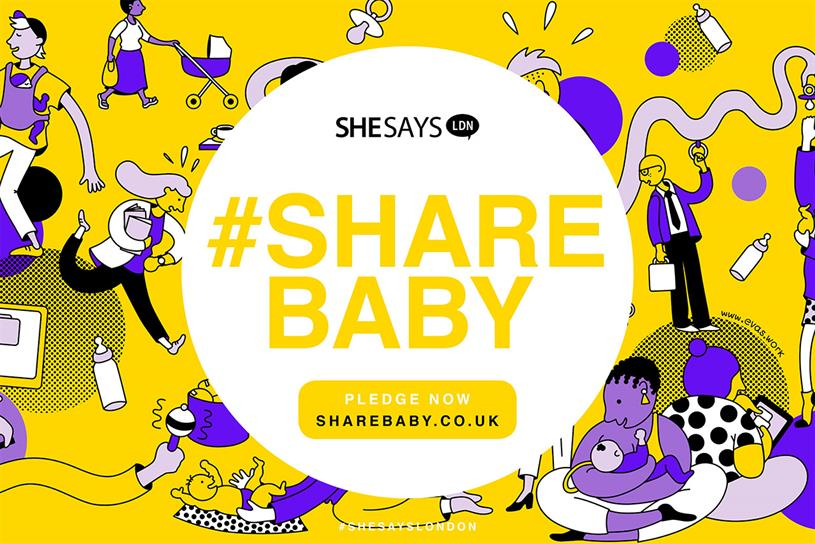 SheSays: campaign inspired by fathers being less likely to take advantage of shared parental leave