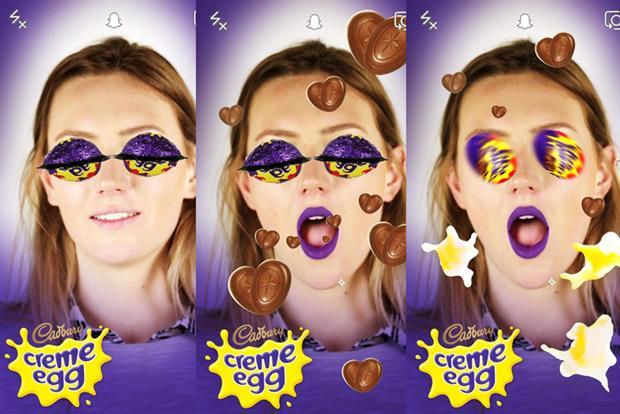 Cadbury is among the brands using Snapchat