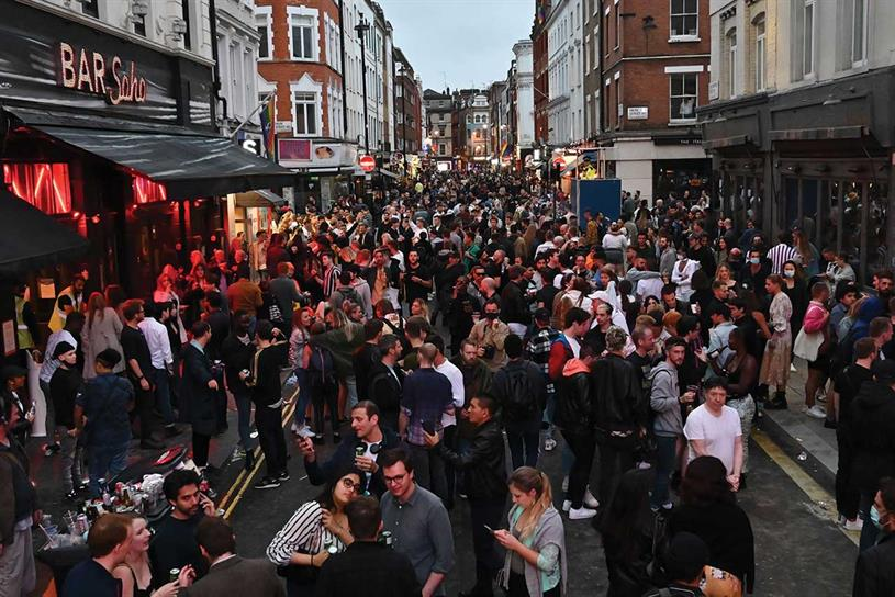 "Return to the office: follows the major easing of lockdown measures heralded by ""Super Saturday"" in July when pubs and bars reopened, but large gatherings were still against Covid rules"