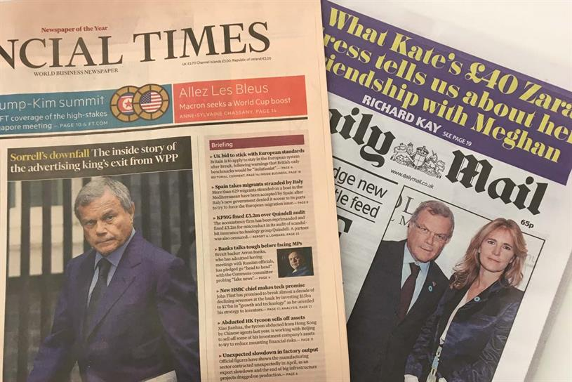 Sorrell: Financial Times published allegations of bullying behaviour