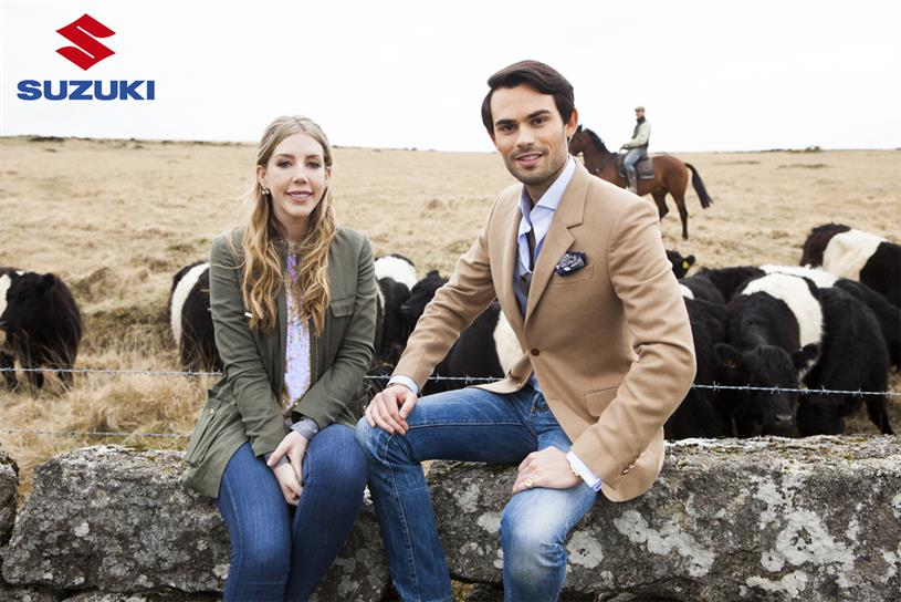 "Suzuki: Katherine Ryan and Mark Francis will star in ""adventure"" campaign"