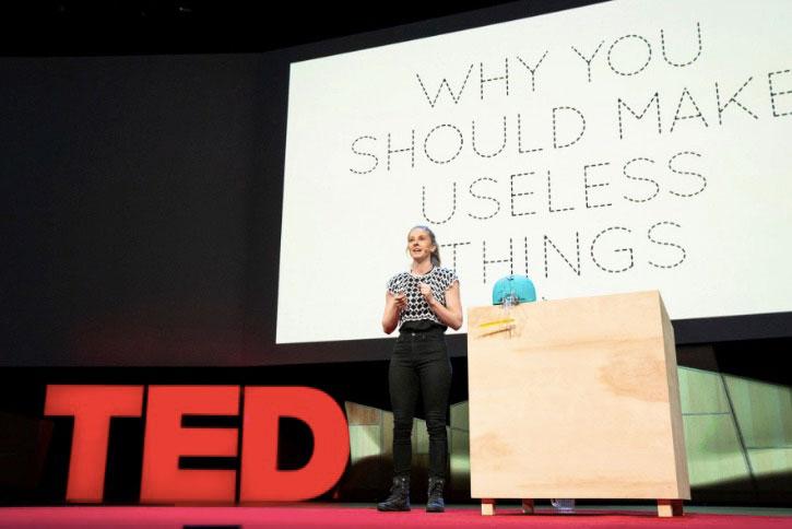 Simone Giertz, the creator of Shitty Robots