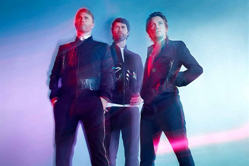 Take That: Gary Barlow, Howard Donald and Mark Owen