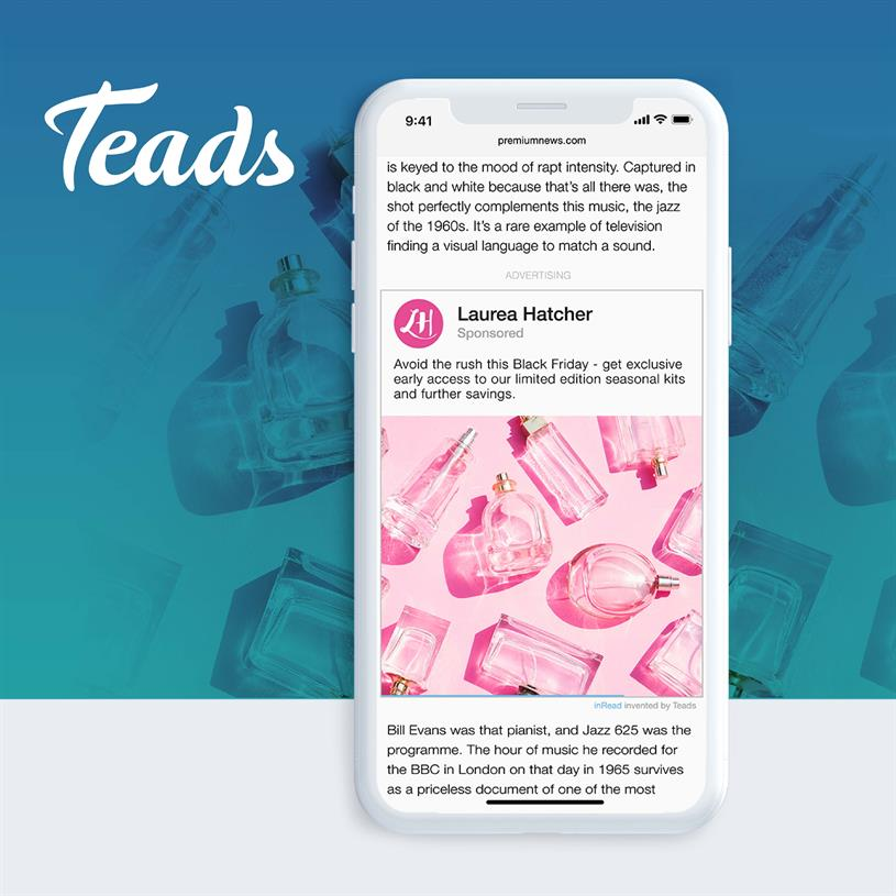 Teads: connects advertisers with premium publishers