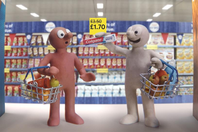Tesco: Morph and Chas make an appearance
