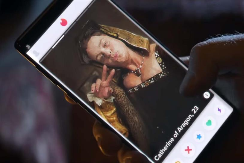 Three: current campaign includes partnerships with brands including Tinder