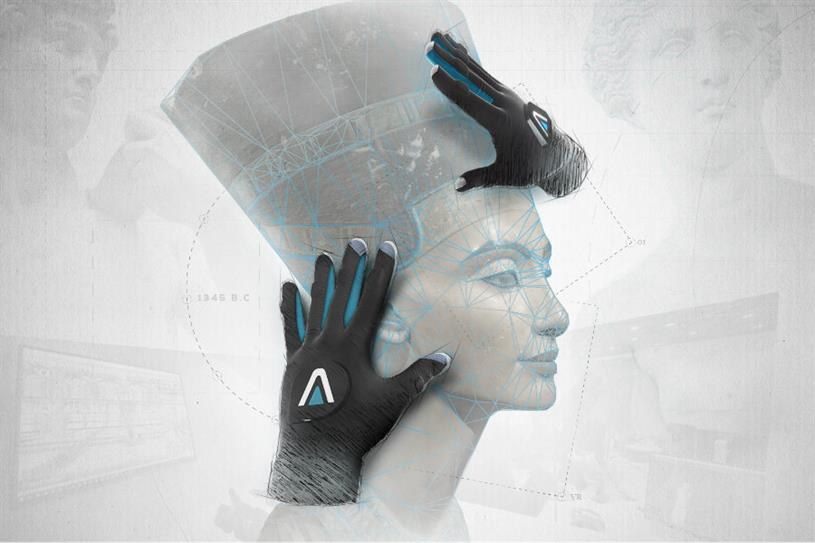 Virtual reality scuptures include the bust of Nefertiti