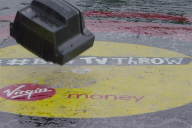 Virgin Money: recent ad campaign revived the rock and roll art of TV throwing