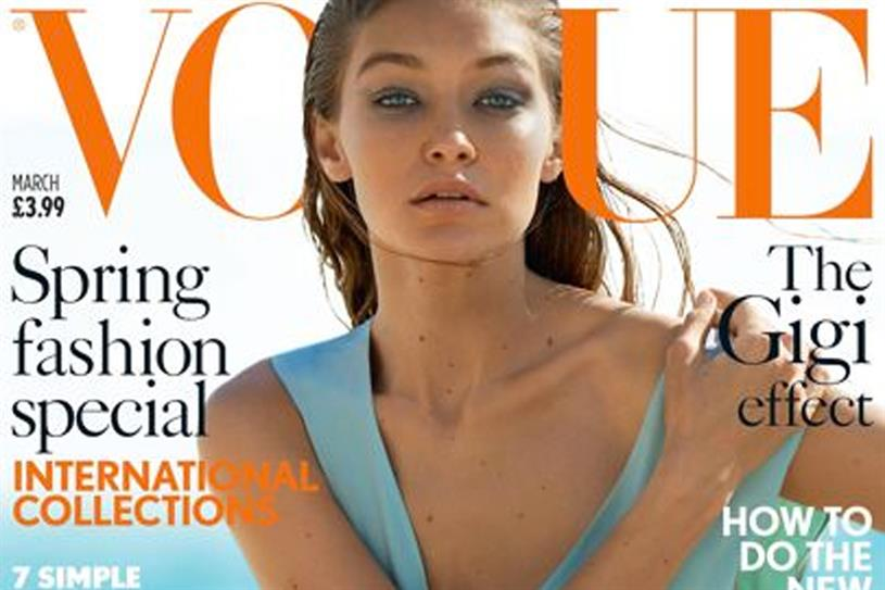 Vogue: owner Conde Nast's titles are down 8.9% year on year