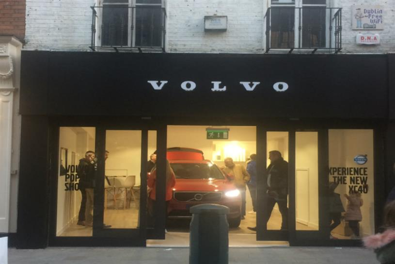 Volvo showcases new model at Dublin pop-up | Campaign US