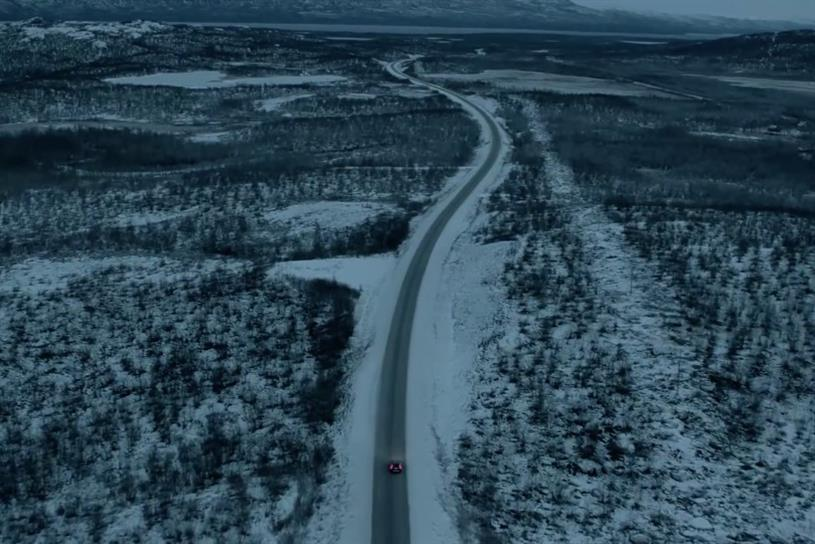 Volvo ad: shows Sweden at its harshest, and most beautiful