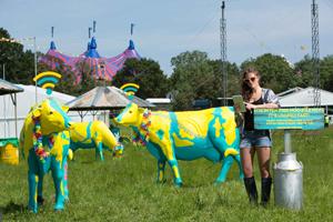 The EE 'highspeed herd' will provide 4G wifi at Glastonbury this week