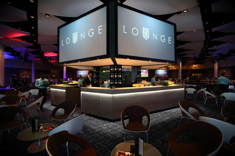 The FA Lounge is situated at Wembley Stadium