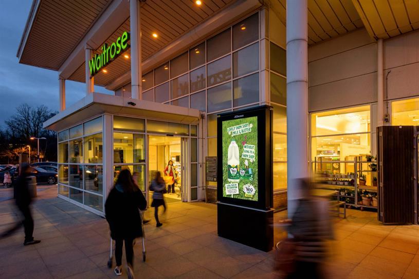 Waitrose: screens are located near entrances